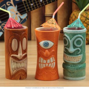 Portrait Tiki Mugs Set of 3