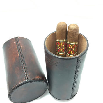 The CigarTube leather Cigar Case Spanish Cedar Lined Handmade in the U.S.A.