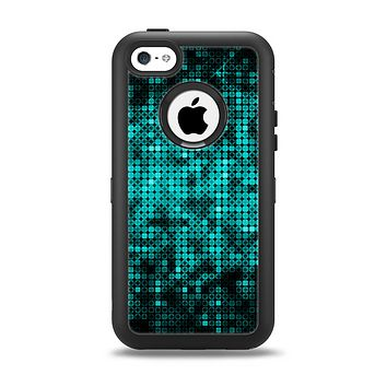 The Glowing Digital Green Dots Apple iPhone 5c Otterbox Defender Case Skin Set