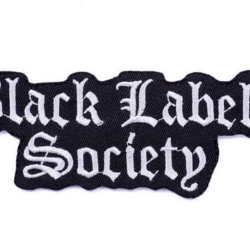 Black Label Society BLS Iron Sew On Embroidered Patch
