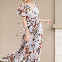 Moon Wrap Maxi Dress