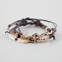 FULL TILT 4 Piece Feather/Love/Geo Bracelets | Bracelets