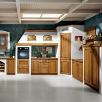 Ash kitchen with handles Milva Collection by Cucine Lube