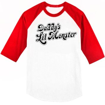 Harley Quinn Daddy's Little Monster Shirt Available in Adult & Youth Sizes
