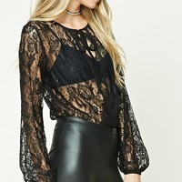 Surplice Lace Bodysuit