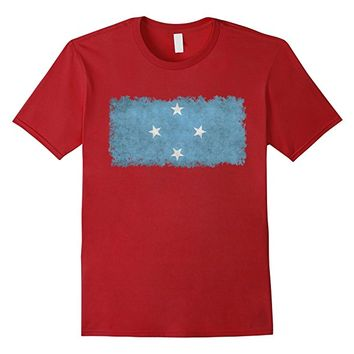 Federated States of Micronesia Flag T-Shirt Vintage Style