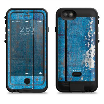 The Worn Blue Paint on Wooden Planks  iPhone 6/6s Plus LifeProof Fre POWER Case Skin Kit