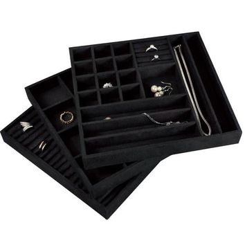 Stackable Velvet Jewelry Trays (Set of 3) | Overstock.com Shopping - The Best Deals on Jewelry Boxes