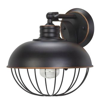 Globe® Electric 65413 Caged Wall Sconce for 1-Light Bulb, Oil Rubbed Bronze