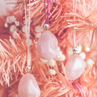 Tumbled Rose Quartz Ornaments (Set of 3)