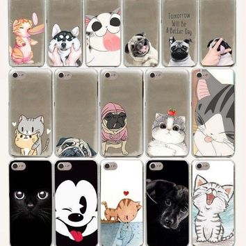 new Pug Dog cat Design Hard Phone Cover Case for iphone 5 6 7 8 plus X