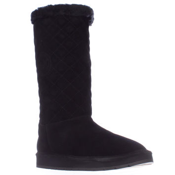 MICHAEL Michael Kors Sandy Quilted Winter Boots - Black