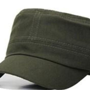 Flat Top Snapback Military Style Summer Hat