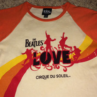 Sale!! Vintage THE BEATLES Love Cirque Du Soleil T shirts Casual Band Tee