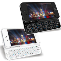 "Wireless Slide-out Phone Case Bluetooth Keyboard Case Cover For iPhone 6 6S 4.7""Black White"