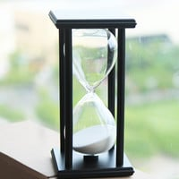 30 Minutes Hourglass Wooden Hour Glass Sand Timer Clock Sandglass Tea Timers