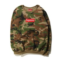 Supreme Fashion Women Men Long Sleve Print SweaterShirt Full Color