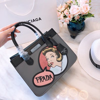 Prada Dual calf leather bag