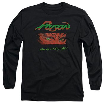 Poison Long Sleeve T-Shirt Open Up and Say Ahh Black Tee