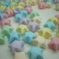 100 Baby Soft Pastel Origami Lucky Stars - custom order available
