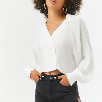 Long Sleeve Button-Down Top