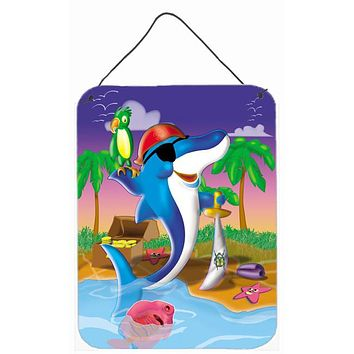 Dolphin Pirate Wall or Door Hanging Prints APH2486DS1216