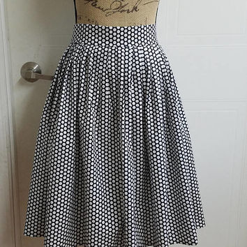 Polka - dot - dots - pinup - pin - up - rockabilly - A - line - pleated - skirt