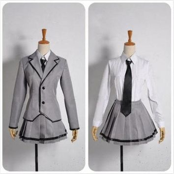 Ansatsu Kyoushitsu/Assassination Classroom Shiota Nagisa cosplay School Uniform Custom Made Free Shipping