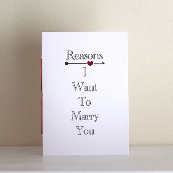 Reasons I Want To Marry You Wedding Vow Booklets