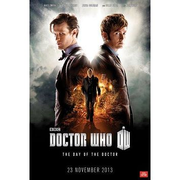 dr who day of the doctor poster Metal Sign Wall Art 8in x 12in