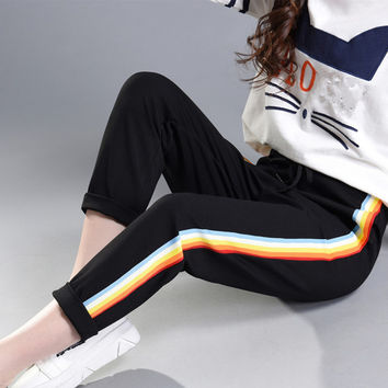 Rainbow Striped Pants