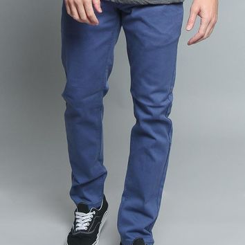 Men's Skinny Fit Colored Jeans DL937 (Light Blue)