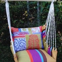 Amazon.com: Cafe Soleil Fan Coral Hammock Chair Swing Set: Patio, Lawn & Garden