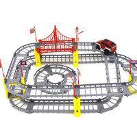DIY Variety Rail Car Electric Puzzle Toys Educational Toy for Kids