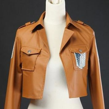 Cool Attack on Titan Levi Costume -  Jacket Levi Eren Cosplay no  Leather Jacket Cosplay AT_90_11