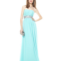 Calvin Klein Dress, Strapless Ruched Beaded Gown