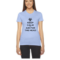 Keep Calm And Aim For The Head - Women's Tee