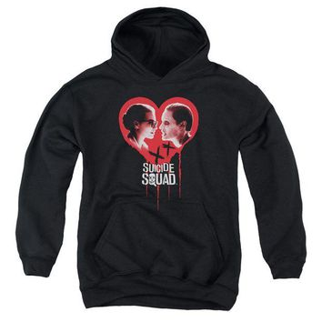 ac spbest Suicide Squad - Joker Spits Game Youth Pull Over Hoodie