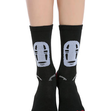 Studio Ghibli Spirited Away No-Face Crew Socks