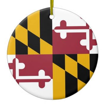 Ornament with flag of Maryland
