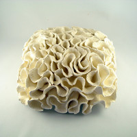 Wall decoration sea inspired ceramic coral pillow Made to order