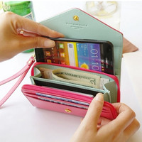 Crown Multifunctional Leather Phone Wallet