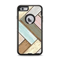 The Zigzag Vintage Wood Planks Apple iPhone 6 Plus Otterbox Defender Case Skin Set