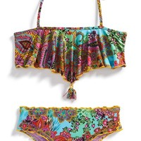 Girl's Luli Fama Cascade Halter Two-Piece Swimsuit,