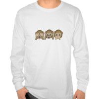 Three Wise Monkeys Emoji Tee Shirt