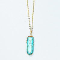 All is Calm Necklace - TURQUOISE