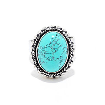 Fairy Circle Silver and Turquoise Ring