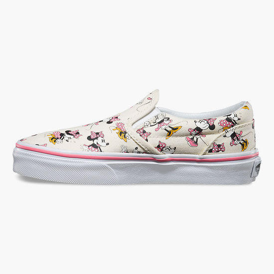 9c6db7d0df Vans Disney Minnie Mouse Classic Girls Slip-On Shoes Pink Combo In Sizes