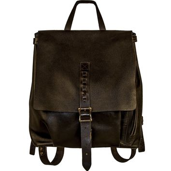 Renaissance Handmade Leather Backpack - Black