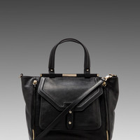 Rebecca Minkoff Sunny Satchel in Black from REVOLVEclothing.com
